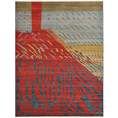 World Menagerie Foret Noire Red Area Rug; 10'6'' x 16'5''