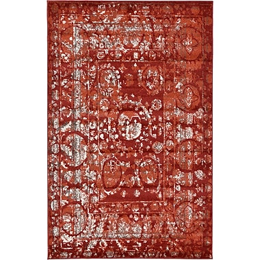 World Menagerie Kelaa Terracotta Area Rug; 10' x 16'