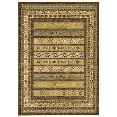 World Menagerie Foret Noire Brown Area Rug; 8' x 11'2''