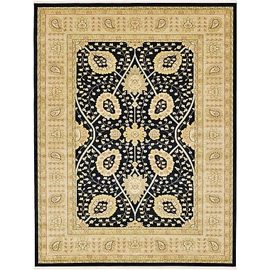 World Menagerie Willow Black Area Rug; 5' x 8'