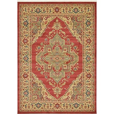 World Menagerie Zoey Red Area Rug; 6' x 6'