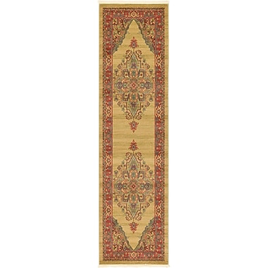 World Menagerie Zoey Light Brown Area Rug; 7' x 10'