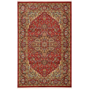 World Menagerie Zoey Red Area Rug; 9' x 12'