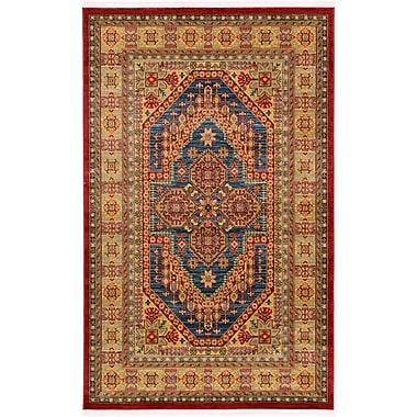 World Menagerie Zoey Navy Blue Area Rug; 9'10'' x 13'