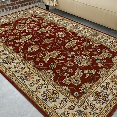 Charlton Home Keefer Red Area Rug; Square 4'