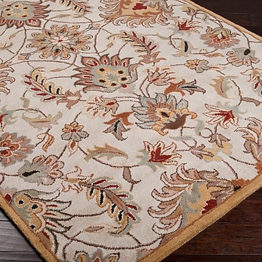 Charlton Home Keefer Gold Area Rug; Oval 6' x 9'