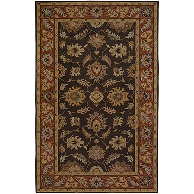 Charlton Home Keefer Chocolate/Tan Area Rug; Runner 2'6'' x 8'