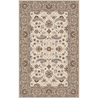 Charlton Home Keefer Antique White Floral Area Rug; Runner 3' x 12'