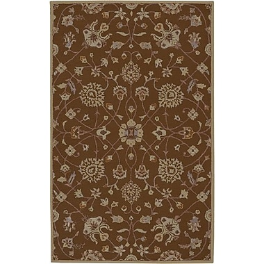 Charlton Home Keefer Coffee Bean Floral Area Rug; 12' x 15'