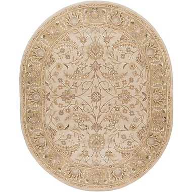 World Menagerie Topaz Taupe Floral Area Rug; 2' x 3'