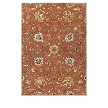World Menagerie Topaz Butter Peanut Floral Area Rug; Square 4'