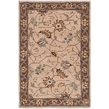 World Menagerie Topaz Brown/Tan Floral Area Rug; 10' x 14'