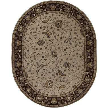 World Menagerie Topaz Brown/Tan Floral Area Rug; Runner 2'6'' x 8'