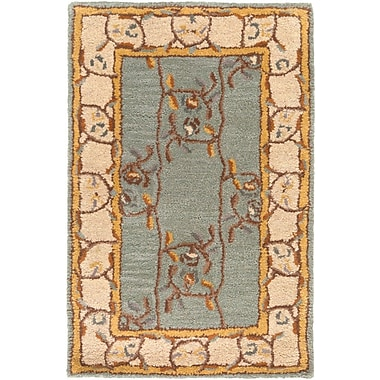 Charlton Home Keefer Gray Floral Area Rug; 7'6'' x 9'6''