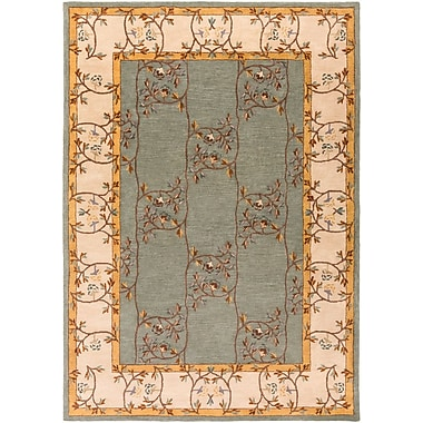 Charlton Home Keefer Gray Floral Area Rug; 8' x 11'