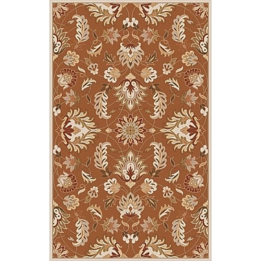 Charlton Home Keefer Butter Peanut Floral Area Rug; Runner 2'6'' x 8'