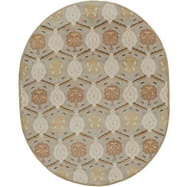 Charlton Home Keefer Olive Gray Area Rug; Round 9'9''