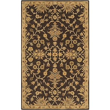 Fleur De Lis Living Casselman Black/Gold Area Rug; Runner 2'6'' x 8'