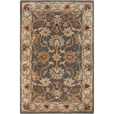 World Menagerie Topaz Hand-Tufted Charcoal Area Rug; Square 8'
