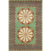 Bloomsbury Market Energizer Hand Tufted Wool Green/Cream Area Rug by