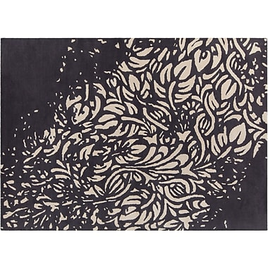 Bloomsbury Market Estella Hand Tufted Rectangle Contemporary Black/Cream Area Rug; 5' x 7'