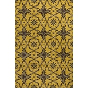 Bloomsbury Market Energizer Hand Tufted Wool Gold/Dark Olive Green Area Rug; 8' x 10' by