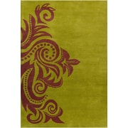 Bloomsbury Market Energizer Hand Tufted Wool Green/Brown Area Rug; 8' x 10' by