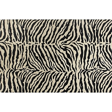 World Menagerie Sarana Hand-Tufted Black Area Rug; 7'9'' x 9'9''