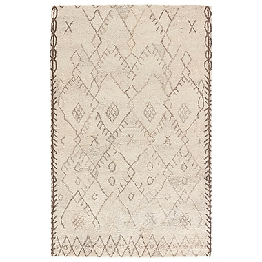 World Menagerie Samara Hand-Tufted Cloud Cream/Chocolate Chip Area Rug; 8' x 11'