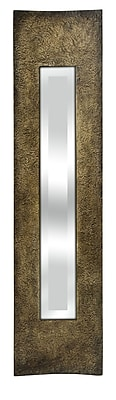 World Menagerie Narrow Rectangle Brown Wall Mirror