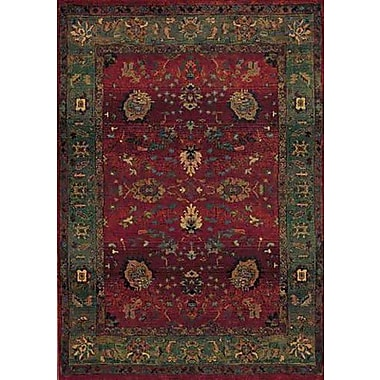 Bloomsbury Market Rosabel Floral Red/Green Area Rug; Round 8'
