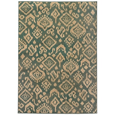 Loon Peak Sonora Blue/Beige Area Rug; 7'10'' x 10'