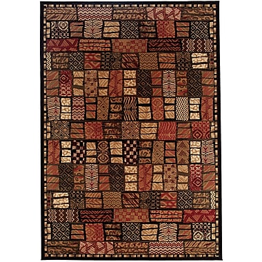 World Menagerie Amsbry Cairo/Midnight Area Rug; 2' x 3'7''