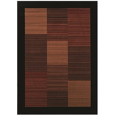 Bloomsbury Market Judlaph Black/Brown Area Rug; 9'2'' x 12'5''
