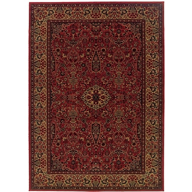 World Menagerie Amsbry Red/Gold Area Rug; 7'10'' x 11'2''