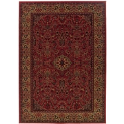 World Menagerie Amsbry Red/Gold Area Rug; 2' x 3'7''