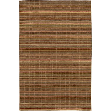 Bloomsbury Market Sandra Hand-Knotted Yellow/Brown Area Rug; 7'9'' x 9'9''