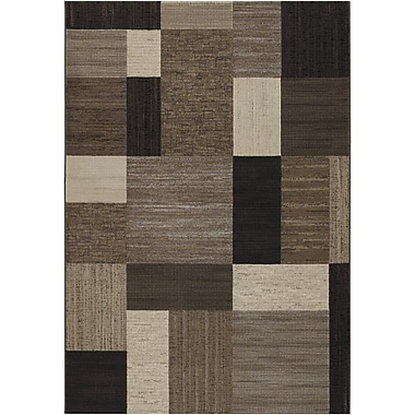 Bloomsbury Market Judlaph Gray/Black Area Rug; Runner 2'7'' x 7'10''