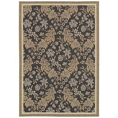 World Menagerie Kahila Gray/Brown Area Rug; 7'6'' x 10'9''