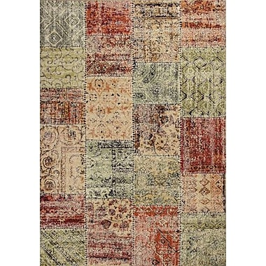 World Menagerie Rouidate Patchwork Area Rug; 5'3'' x 7'7''