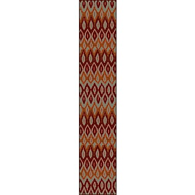 World Menagerie Malakai Red Area Rug; 7'7'' x 10'10''