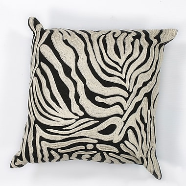 World Menagerie Hamilton Zebra Cotton Throw Pillow