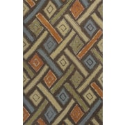 World Menagerie Alessandro Mocha Windows Area Rug; 3'3'' x 5'3''