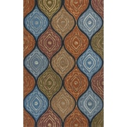 World Menagerie Alessandro Navy Mosaic Area Rug; 5' x 8'