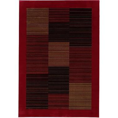 Bloomsbury Market Judlaph Red/Black Area Rug; Octagon 5'3''