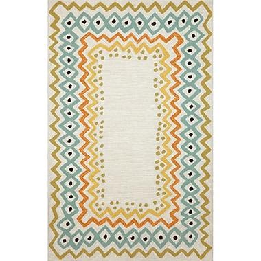 Ebern Designs Bahri Pastel Border Indoor/Outdoor Area Rug; 5' x 7'6''
