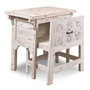 World Menagerie Nikolai Writing Desk and Chair Set; Antique White