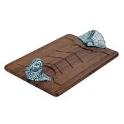 Arthur Court Game Birds Turkey Wood Carving Board