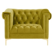 Chic Home Furniture Bea Velvet Club Chair; Cognac