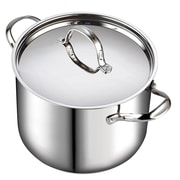 Cooks Standard Classic Stainless Steel Stock Pot w/ Lid; 12 Quarts